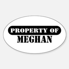 Property of Meghan Oval Decal