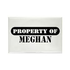 Property of Meghan Rectangle Magnet