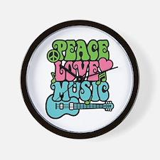 Peace-Love-Music Wall Clock