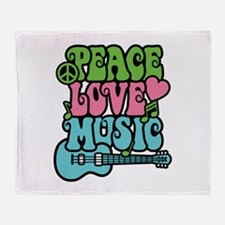 Peace-Love-Music Throw Blanket