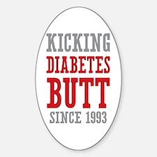 Diabetes Butt Since 1993 Sticker (Oval)