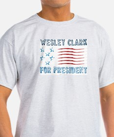 Wesley Clark for President Ash Grey T-Shirt