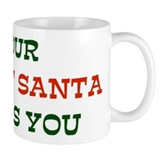 Your Secret Santa Hates You Small Mug