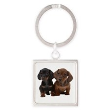 Dachshunds Square Keychain