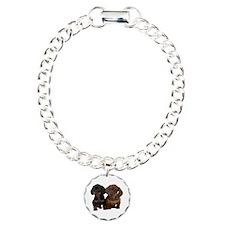 Dachshunds Charm Bracelet, One Charm