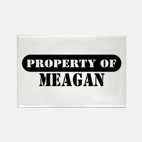 Property of Meagan Rectangle Magnet