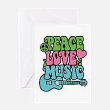 Peace-Love-Music Greeting Card