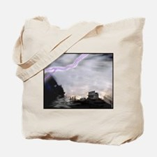 Stormy Ghost Town Tote Bag