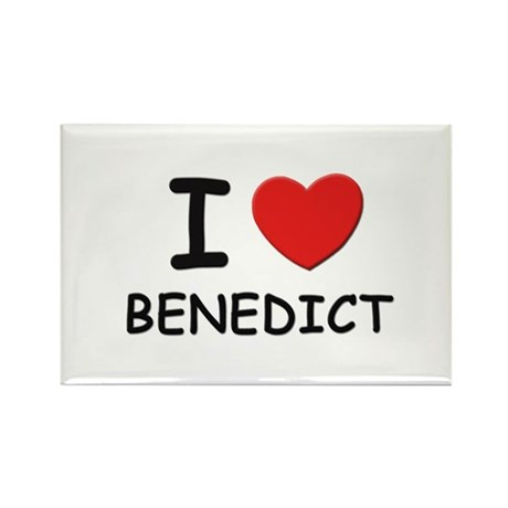 I love Benedict Rectangle Magnet