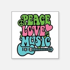 Peace-Love-Music Sticker