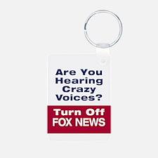 Turn Off Fox News Keychains