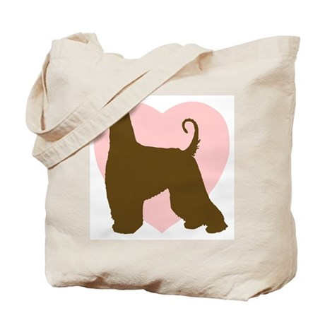 Afghan Hound Heart Tote Bag