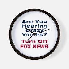 Turn Off Fox News Wall Clock