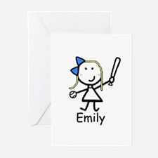 Softball - Emily Greeting Cards (Pk of 10)