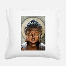 Buddha Blessing Square Canvas Pillow