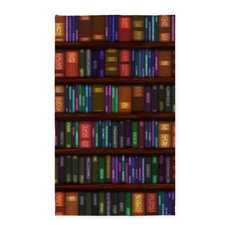 Old Bookshelves 3'x5' Area Rug