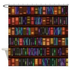 Old Bookshelves Shower Curtain