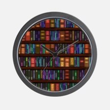 Old Bookshelves Wall Clock