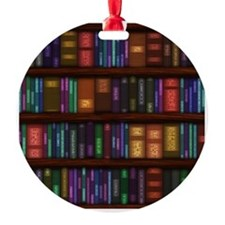 Old Bookshelves Ornament
