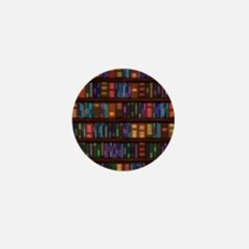 Old Bookshelves Mini Button (100 pack)