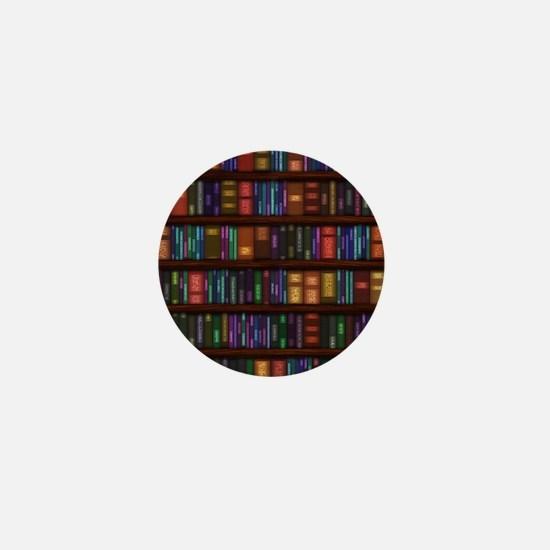Old Bookshelves Mini Button