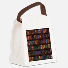 Old Bookshelves Canvas Lunch Bag