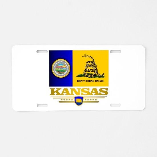 Kansas Gadsden Flag Aluminum License Plate