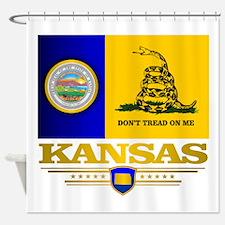 Kansas Gadsden Flag Shower Curtain