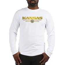 Kansas Gadsden Flag Long Sleeve T-Shirt