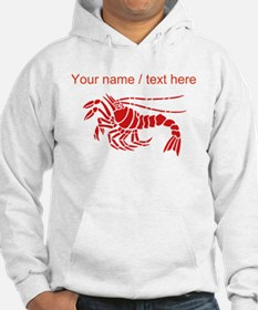 Personalized Red Lobster Design Hoodie
