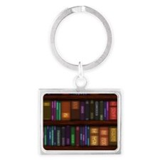 Old Bookshelves Landscape Keychain