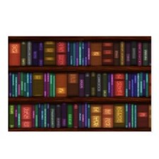 Old Bookshelves Postcards (Package of 8)