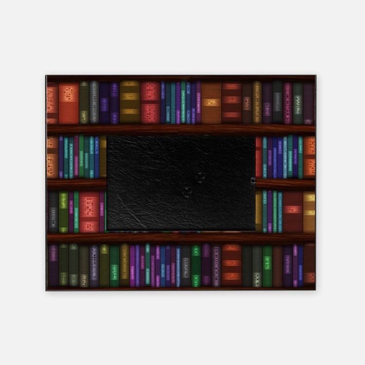 Old Bookshelves Picture Frame