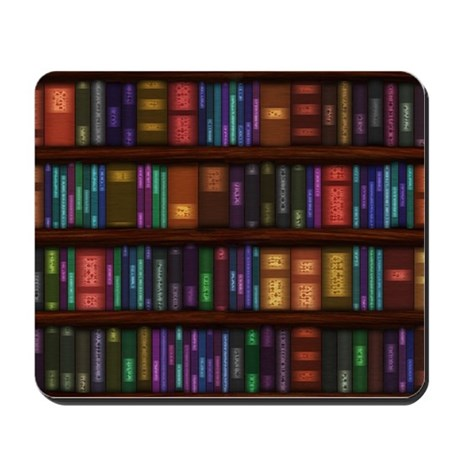 Old Bookshelves Mousepad