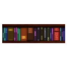 Old Bookshelves Bumper Sticker