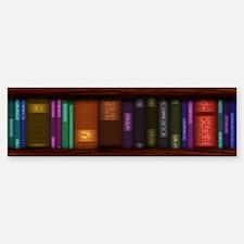Old Bookshelves Sticker (Bumper)