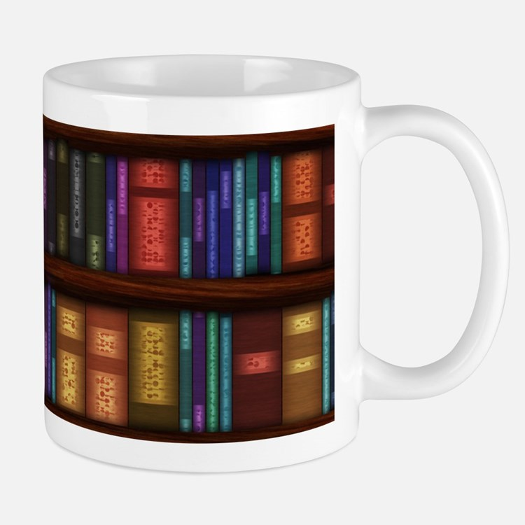 Old Bookshelves Mug