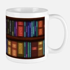 Old Bookshelves Small Mugs