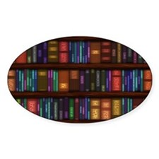 Old Bookshelves Decal