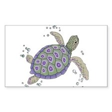 Swimming Sea Turtle Decal