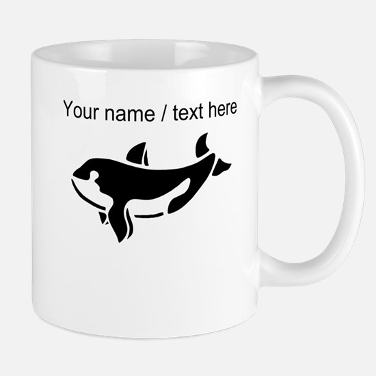 Personalized Black Killer Whale Mug