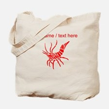 Personalized Red Shrimp Tote Bag