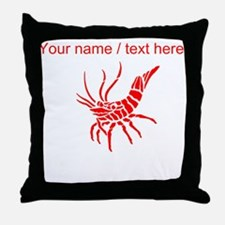 Personalized Red Shrimp Throw Pillow