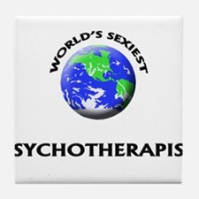 World's Sexiest Psychotherapist Tile Coaster