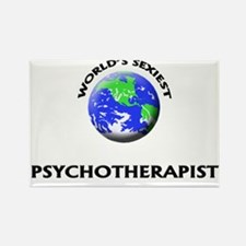 World's Sexiest Psychotherapist Rectangle Magnet