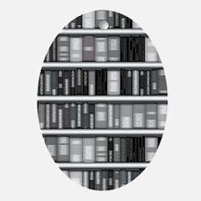 Modern Bookshelf Ornament (Oval)