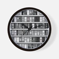 Modern Bookshelf Wall Clock