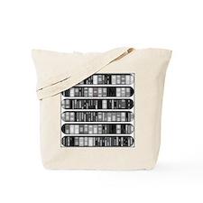 Modern Bookshelf Tote Bag
