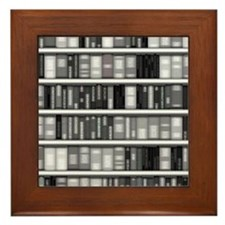 Modern Bookshelf Framed Tile