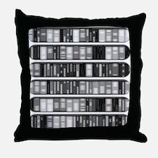 Modern Bookshelf Throw Pillow